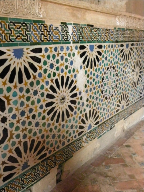 Moorish Tiles in the Alhambra