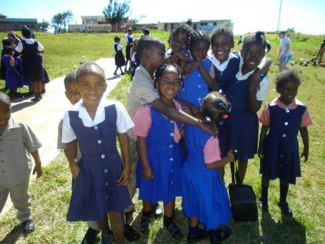 Children in Treasure Beach, Jamaica