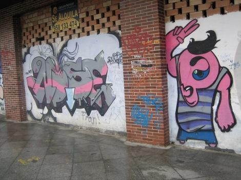 Graffiti in Granada near