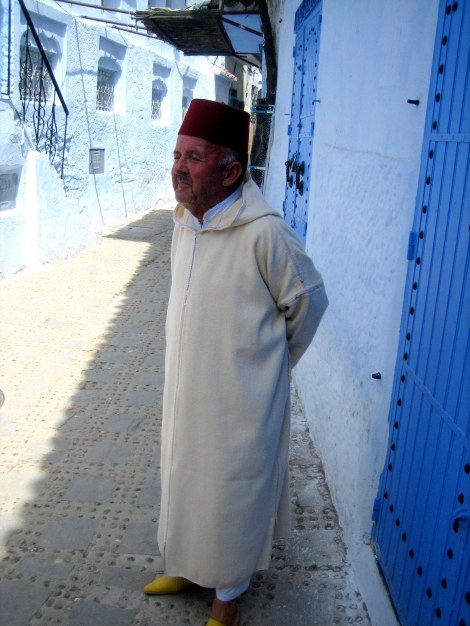 Man in Chefchaouen, Morocco