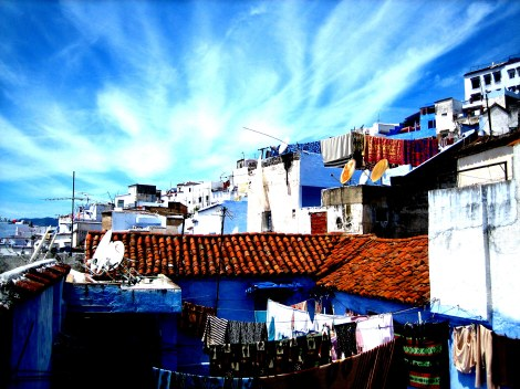 Chefchaouen, Morocco rooftop