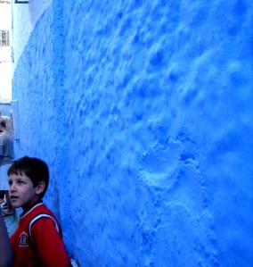 Child in Chefchaouen, Morocco