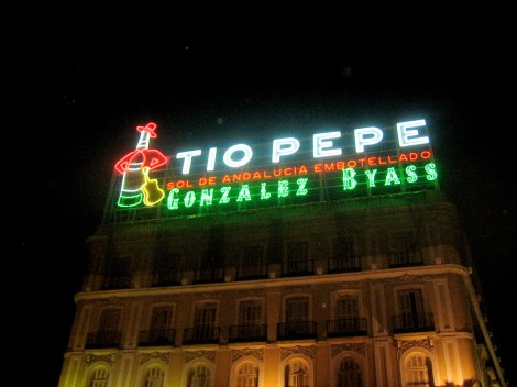 Tio Pepe Sign in Puerta del Sol - Madrid, Spain