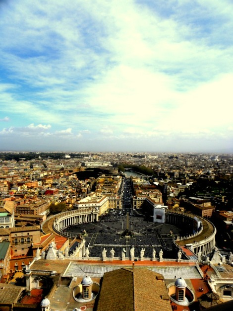 St. Peter's Square from atop St. Peter's Basilica