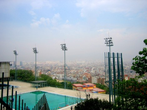 Olympic Stadium overlooking Barcelona