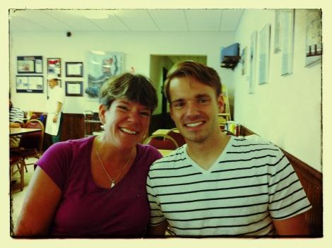 My Mom & I at Manny's