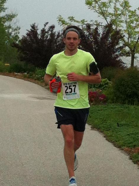 Me dying at mile 21 of my marathon