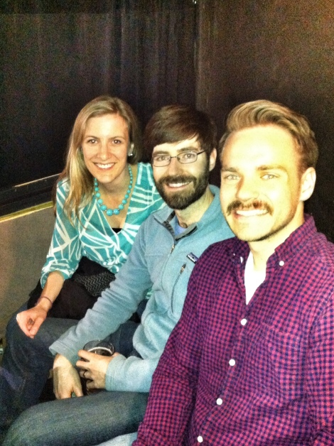 My cousins, Erin and Pete, and I at Improv Asylum in Boston