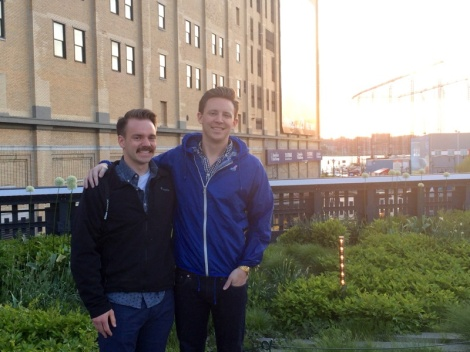 My cousin, Matt, and I on the High Line in New York City.