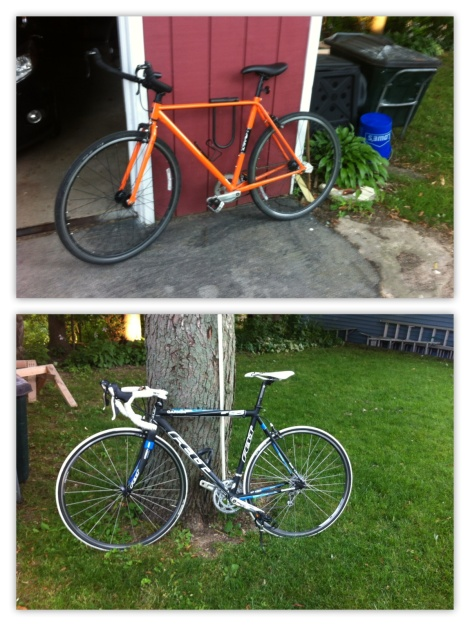 Two of My Beloved Bikes. (Yes, I have far more than two)